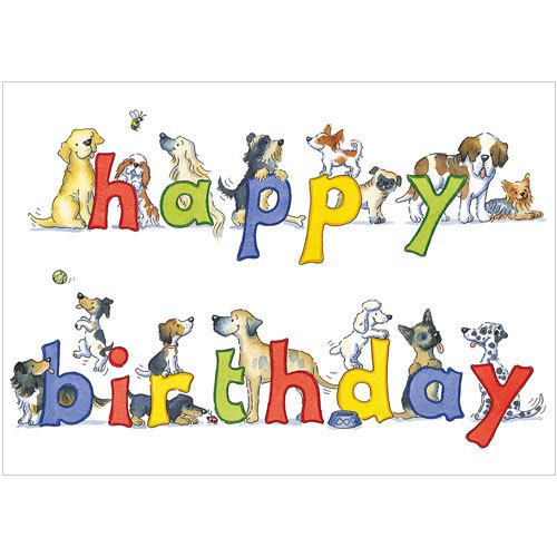 A253 Happy Birthday Dogs For Flamingo Paperie At The Card Club