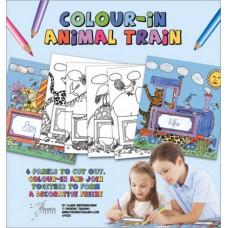 CP002 Colour-In Animal Train