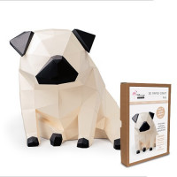 FKA005 3-D Papercraft Model Kit - Pug