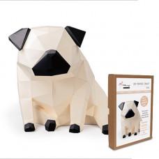 FKA005 3-D Papercraft Model Kit - Pug