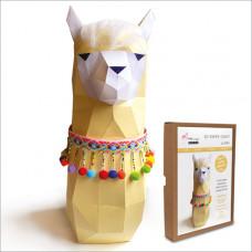 FKA006 3-D Papercraft Model Kit - Llama
