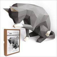 FKA007 3-D Papercraft Model Kit - Cat