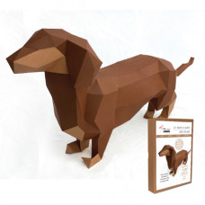 FKA0012 3-D Papercraft Model Kit - Dashshund