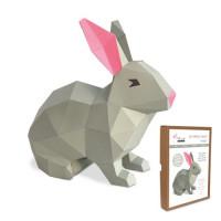FKA015 3-D Papercraft Model Kit - Rabbit