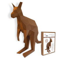 FKA016 3-D Papercraft Model Kit - Kangaroo