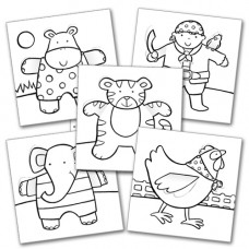 CP001 Childrens' Colour-in Cards (Pk 10)