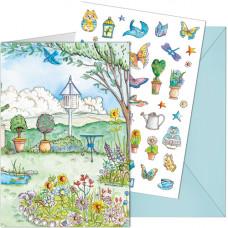 SP51 Butterfly Garden Sticker Card