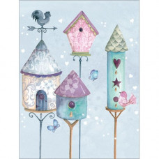 B010 Four Birdhouses Gift Card