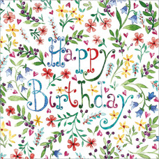 FP5117 Happy Birthday Floral