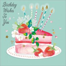 FP6206 Strawberry Cake Birthday Wishes to You