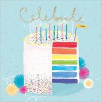 FP6227 Rainbow Cake (Celebrate)