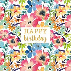 FP6243 Bright Flowers (Happy Birthday)
