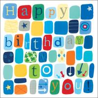 S154 Blue Happy Birthday