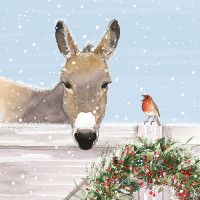 XC045 Donkey in the Snow (Pk 8)
