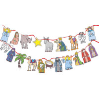 XMC003 Colour-In Nativity Bunting