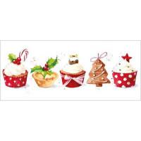 XC074 Christmas Cupcakes (Pk 8)