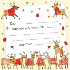 XN003 Rudolph and Friends Thank You Notecards (Pk 10)