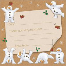 XN004 Snowmen Thank You Notecards (Pk 10)