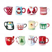 XC120 Festive Christmas Mugs (Pk 8)