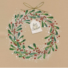 XC126s Christmas Berry Wreath (Single)