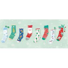 XC134 Christmas Socks (Pk 8)