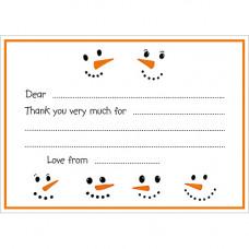 XN006 Frosty Thank You  Notecards (Pk 10)