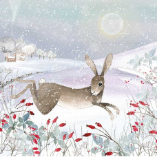 XC141 Leaping Hare in Snow (Pk 8)