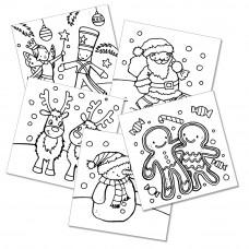 XMC009 Christmas Colour-in Cards (Pk 10)