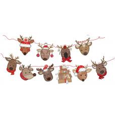 XMB006 Christmas Reindeer Bunting
