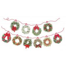 XMB007 Christmas Wreaths Bunting