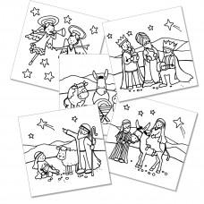 XMC010 Nativity Colour-in Cards (Pk 10)