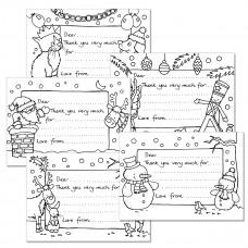 XMC012 Christmas Colour-in Notecards (Pk 10)
