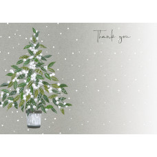 XN008 Mistletoe Tree Thank You Notecards (Pk 10)