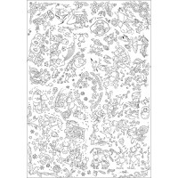 TC01 The Seasons Colour-in Tablecloth