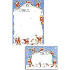 XM26 Santas in the Snow Stationery Set (10 x Notepaper + Envelopes)