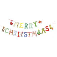 XMB005 Merry Christmas Bunting