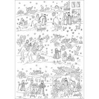 XMC005 Nativity Colour-in Tablecloth