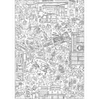 XMC007 Emergency Services Colour-in Tablecloth