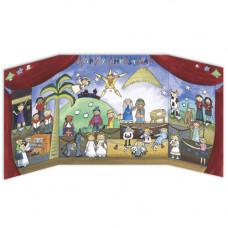 XADV18 Children's Nativity (Vintage) Advent Calendar
