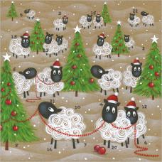 XAC15 Sheep Advent Card