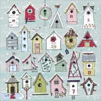 XAC16 Bird Houses Advent Card
