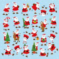 XAC18 Jolly Santas Advent Card
