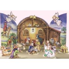 XADV01 Nativity Stable Advent Calendar
