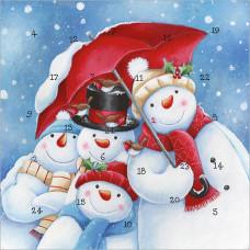 XAC11 Snowmen Advent  Card
