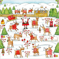XAC12 Rudolph and Friends Advent Card