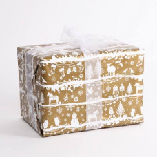 XRW78 Patterned Christmas Roll Wrap