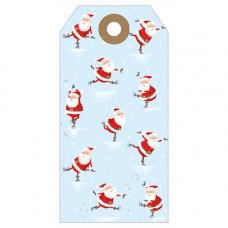 XGT011 Skating Santas Gift Tag