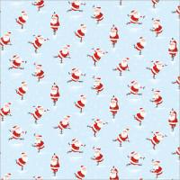 XGW011 Skating Santas Gift Wrap (1 sheet)