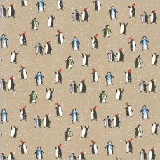 XGW012 Penguins Gift Wrap (1 sheet)