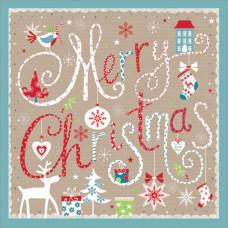 XP04AUS Merry Christmas (Kraft) (Pk 8)